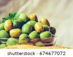 olives. selective focus.  | Shutterstock . vector #674677072