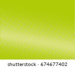 halftone dotted background. pop ... | Shutterstock .eps vector #674677402