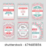 set of raster design awesome... | Shutterstock . vector #674685856
