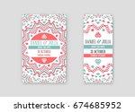 set of raster design awesome... | Shutterstock . vector #674685952