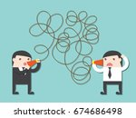 executive bad communication.... | Shutterstock .eps vector #674686498