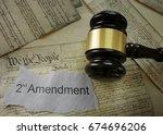 2nd amendment news headline on... | Shutterstock . vector #674696206