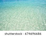 tropical seascape  for spring... | Shutterstock . vector #674696686