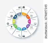 infographics template 10...   Shutterstock .eps vector #674697145