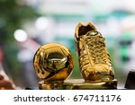 Golden Soccer Football Trophy...