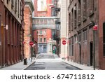 buildings at the intersection... | Shutterstock . vector #674711812