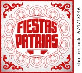 fiestas patrias   national... | Shutterstock .eps vector #674713246