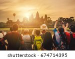tourist waiting for see the... | Shutterstock . vector #674714395