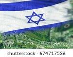 israel flag on high tech...   Shutterstock . vector #674717536