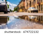 sunny day after the rain in the ...   Shutterstock . vector #674722132