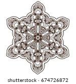 ethnic fractal mandala raster