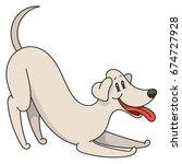 playing cartoon dog with smile  ... | Shutterstock .eps vector #674727928