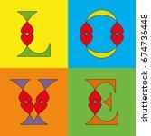 love typography. heart... | Shutterstock .eps vector #674736448