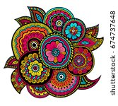 ethnic mehndi ornament. indian... | Shutterstock .eps vector #674737648
