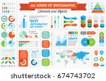 infographics elements and... | Shutterstock . vector #674743702