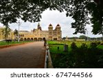 the majestic mysore palace | Shutterstock . vector #674744566