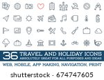 travel icons raster set  great...   Shutterstock . vector #674747605