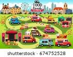 a vector illustration of food...   Shutterstock .eps vector #674752528