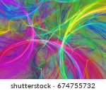abstract fractal background 3d... | Shutterstock . vector #674755732