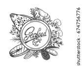 seafood restaurant  menu... | Shutterstock .eps vector #674756776