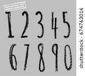 grunge motorcycle tire figures. ... | Shutterstock .eps vector #674763016