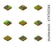 isometric way set of down  way  ...   Shutterstock .eps vector #674765266