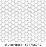 3d like honeycomb white texture.... | Shutterstock .eps vector #674766742