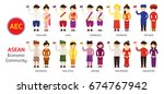 southeast asia people in... | Shutterstock .eps vector #674767942