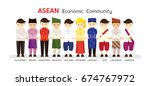 southeast asia people in... | Shutterstock .eps vector #674767972