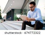 portrait of businessman in... | Shutterstock . vector #674772322