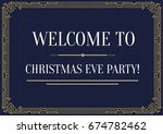 gatsby style invitation in art... | Shutterstock . vector #674782462