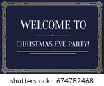 gatsby style invitation in art... | Shutterstock . vector #674782468
