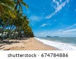 palm cove beach | Shutterstock . vector #674784886