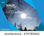 abstract vector modern cover...   Shutterstock .eps vector #674785462