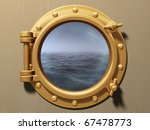 ship porthole looking out to a... | Shutterstock . vector #67478773