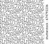vector seamless pattern  ... | Shutterstock .eps vector #674792236