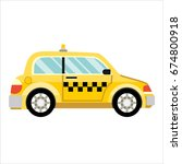 taxi car. flat styled... | Shutterstock . vector #674800918