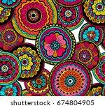 decorative nature ornamental... | Shutterstock .eps vector #674804905