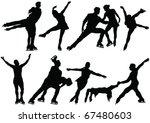 ice skate dance silhouettes  ... | Shutterstock .eps vector #67480603