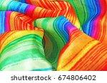 silk dress material cloth... | Shutterstock . vector #674806402