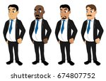 illustration set of diverse... | Shutterstock . vector #674807752