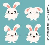 chubby bunny character... | Shutterstock .eps vector #674818942