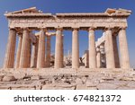 parthenon ancient temple main... | Shutterstock . vector #674821372