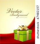 wedding or birthday green gift... | Shutterstock .eps vector #67482157
