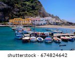 ischia  italy  may 9   fishing... | Shutterstock . vector #674824642