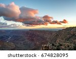 view of the grand canyon at...   Shutterstock . vector #674828095