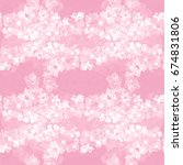 seamless pattern. flowers and...   Shutterstock . vector #674831806
