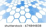 futuristic geometric background | Shutterstock .eps vector #674844838