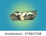packing of banknotes one... | Shutterstock . vector #674847208