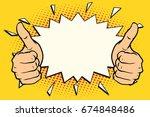 thumb up like. pop art retro